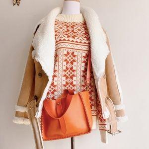 Vintage Medium Knit Sweater Nordic Aztec Native